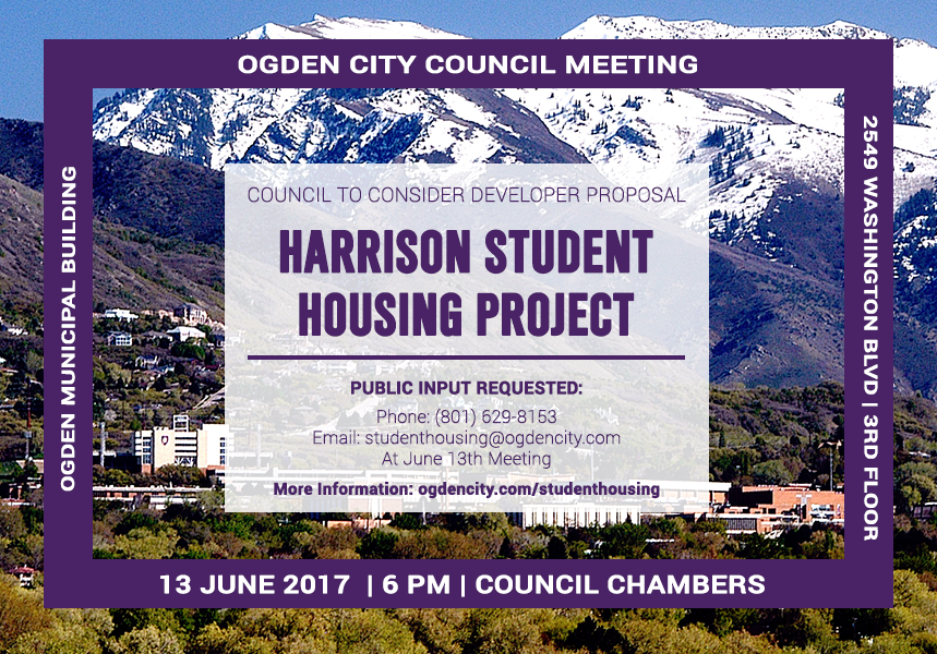The Council will receive public input on a developer's proposal for student housing on Harrison.