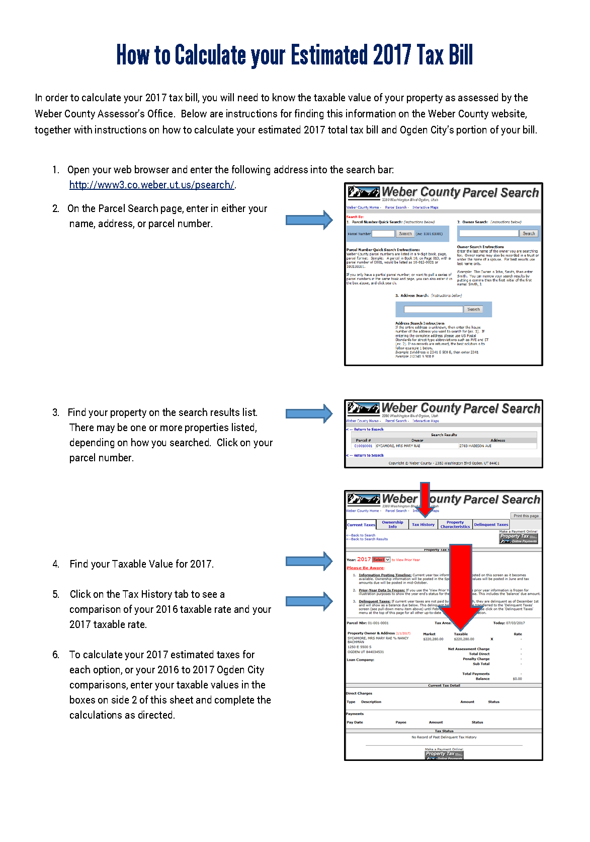 How to Calculate your 2017 Tax Bill Worksheet