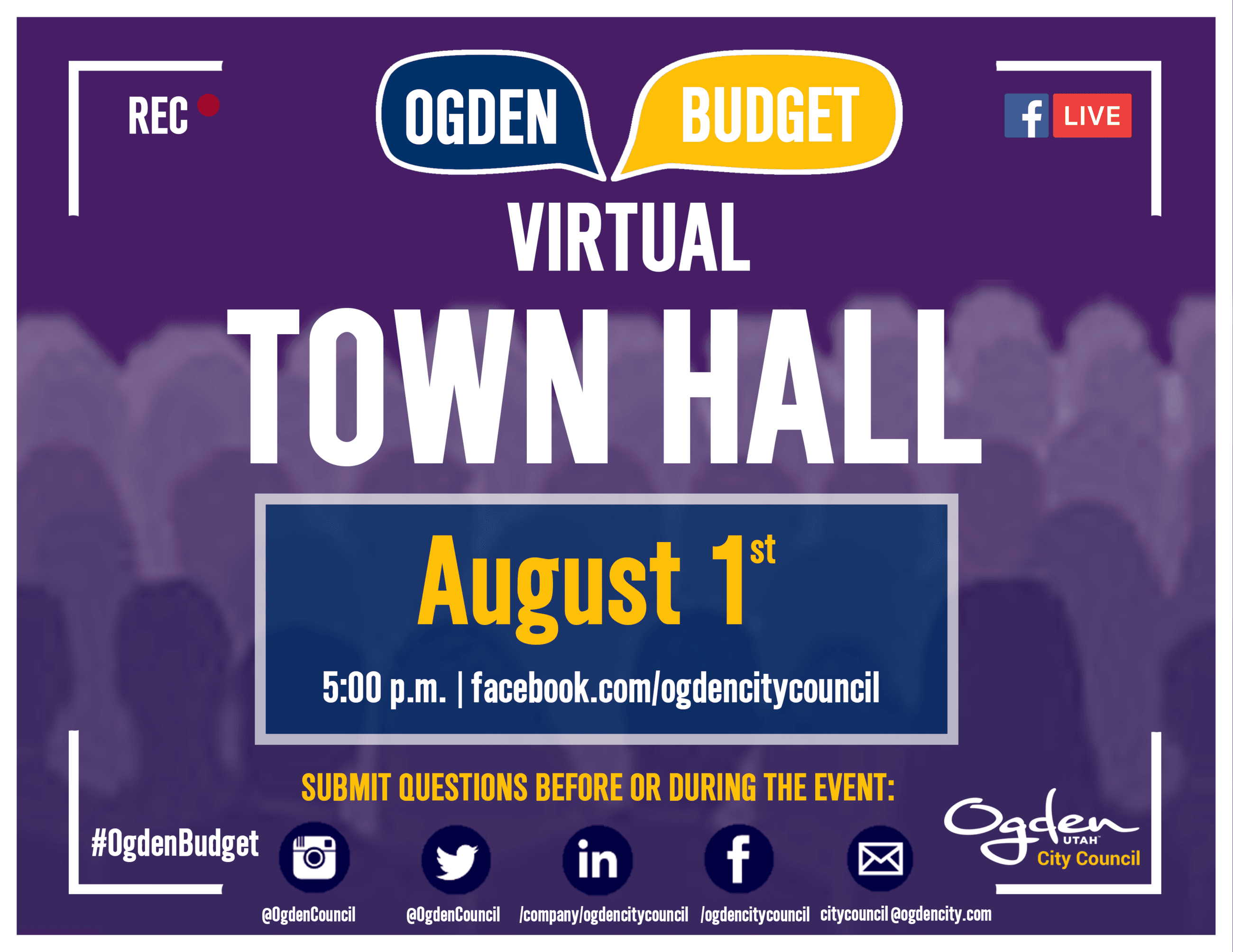Second Virtual Town Hall on Budget