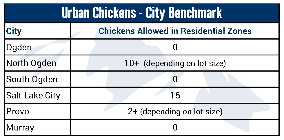 Urban Chickens City Benchmark