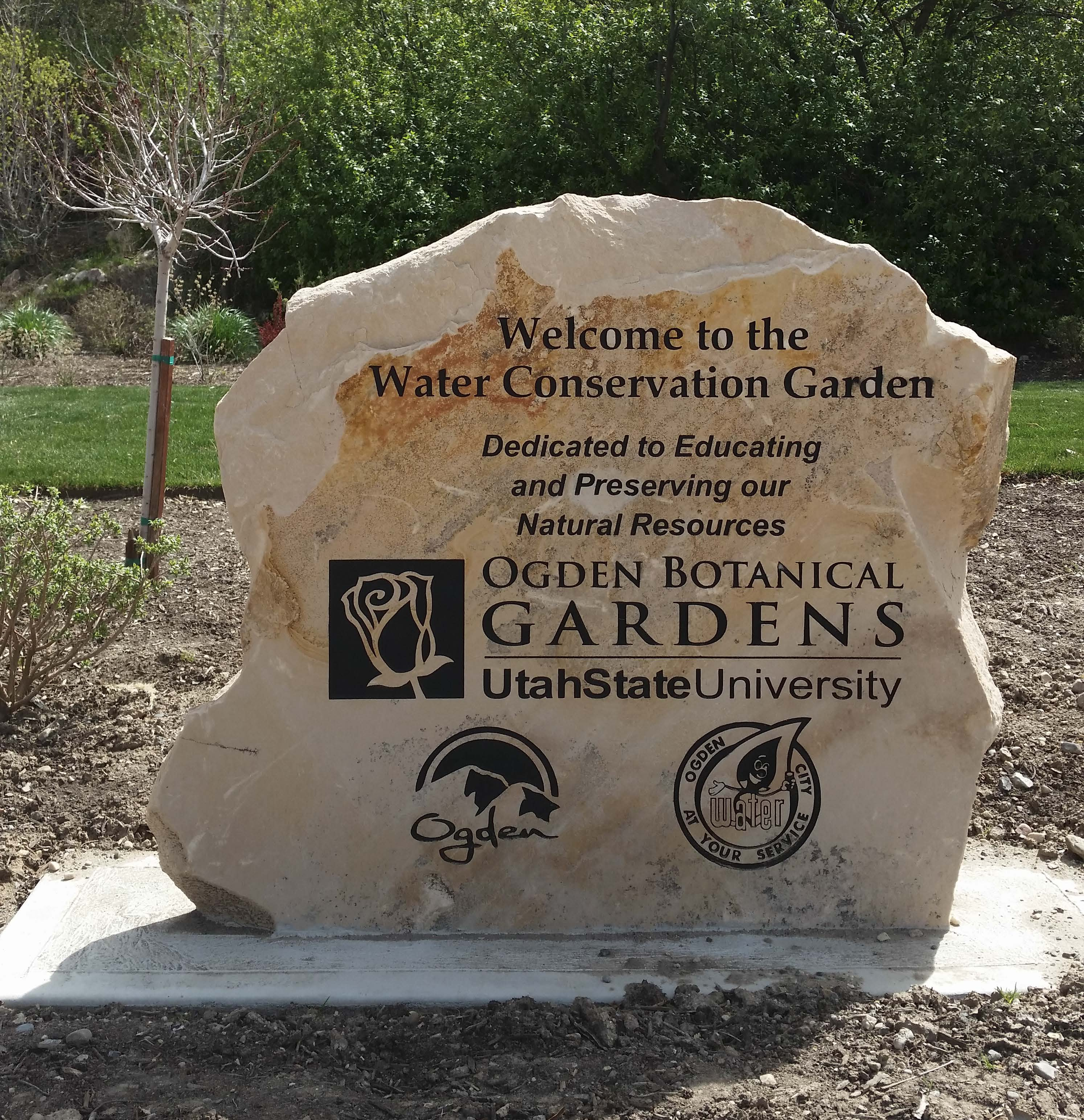 Water Conservation Garden Sign