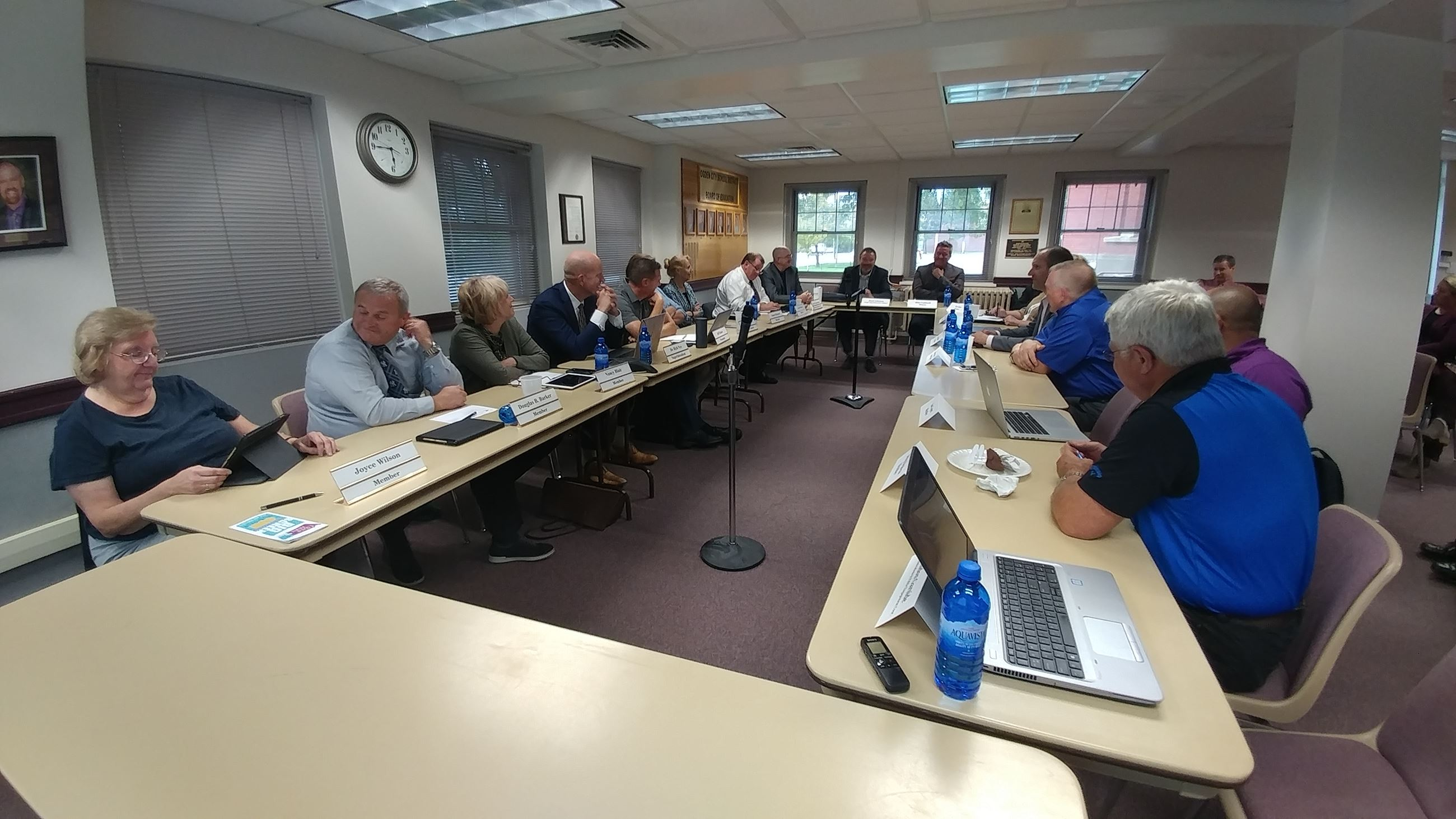 Council Meetings with Ogden School Board of Education