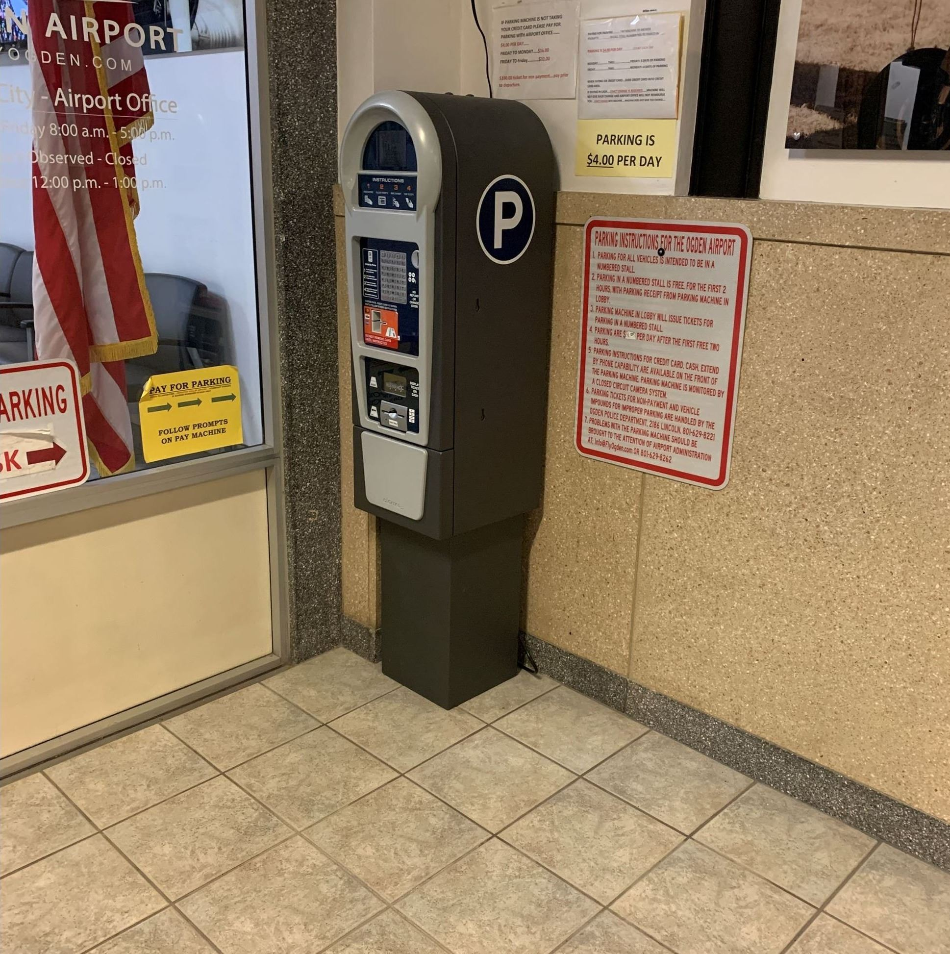 Pay Station located in Vestibule