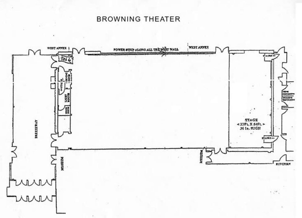 Browning Theater Floor Plan