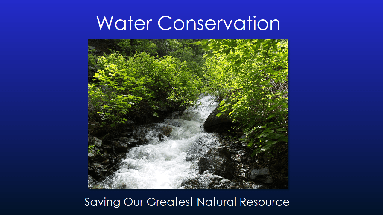 Water Conservation Presentation - Slide 1